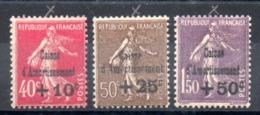 FRANCE - YT N° 266 à 268 - Neufs * - MH - Cote: 150,00 € - France