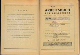 WW2 1942/44 - LIVRET DE TRAVAIL Pour Un Français De RENNES-en-GRENOUILLE (53) - Historical Documents