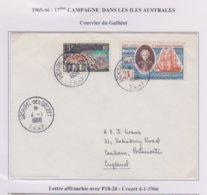 TAAF - Lettre - Crozet - 4-1-66 - P18-20 - Cartas