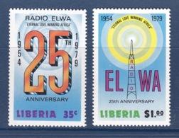 Liberia - 1979 - ( 25th Anniversary Of Radio ELWA ) - Complete Set - MNH** - Liberia