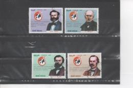 GUINEE-BISSAU - 125 Ans De La CROIX-ROUGE : Henri DUNANT, Louis APPIA, T. MAUNOIR, Gustave MOYNIER - Guinea-Bissau
