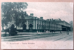 VIRBALIS, WIRBALLEN, WIERZBOŁÓW, 1907, Railway Station, Bahnhof, Gare - Lithuania