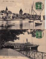 SUISSE - 1912 - Lot De 2 Cartes Postales De Lausanne-gare Pour Nantes - Covers & Documents