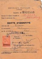 1923 - CARTE D'IDENTITÉ Pour Un ETRANGER ITALIEN -  MARCOING (59) - Documenti Storici