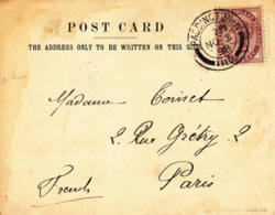GRANDE-BRETAGNE -1898 - Carte Postale Pour Paris - Storia Postale