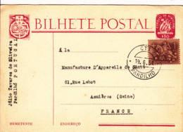 PORTUGAL - 1954 - Carte Postale (entier Postal) Pour La France - Brieven En Documenten