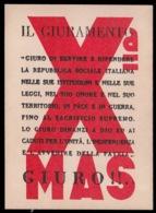 Volantino Della Xª Flottiglia M.A.S (Giuramento) - Documenti Storici
