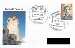 SPAIN. POSTMARK PATERNA TOWER. 2017 - España