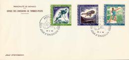 MONACO - 1968 - FDC JO Mexico - Sut, Poids, Hockey - FDC