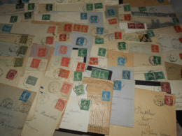 France Collection , 70 Documents Avec Timbres Semeuse Bon Etat General - France