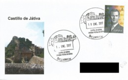 SPAIN. POSTMARK JATIVA CASTLE. 2017 - España