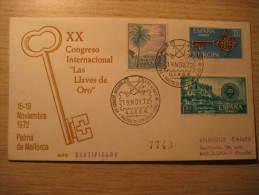 PALMA De Mallorca 1972 Cong Int Las Llaves De Oro Gold Mineral Cancel Cover Balears Baleares SPAIN España - 1931-Hoy: 2ª República - ... Juan Carlos I