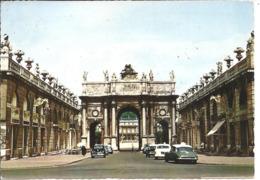 NANCY - Arc De Triomphe Et Place Cartière - Voiture : DS Citroen - Peugeot 203 - 403 - - Nancy