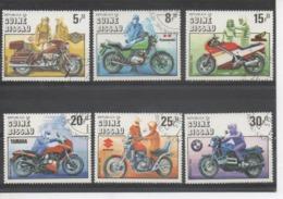 GUINEE-BISSAU - Motocyclettes : Centenaire - Harley-Davidson, Kasawaki, Honda, Yamaha, Suzuki, BMW - Guinea-Bissau