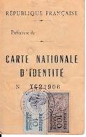 1960 - ALGER - CARTE NATIONALE D'IDENTITÉ Pour Un CORSE Quilicus CANARELLI - 2 Timbres Fiscaux - Documents Historiques