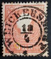 1858 Autriche Yt 14 , Emperor Franz Joseph .! CURIOSITE Queue Au Chiffre 5 Rare Belle Oblitération - 1850-1918 Empire