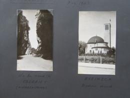 Lot De 2 Photographies : Suisse Mai 1942 - RHEINECK Modern CHurch & On The Road To Oberriet - Hirschensprung - Plaatsen