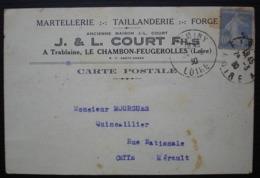 Trablaine Le Chambon-Feugerolles 1930 (Loire) J L Court Martellerie Taillanderie Forge, Cad De Firminy - Poststempel (Briefe)