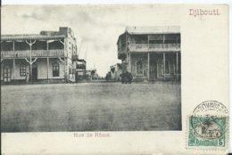 DJIBOUTI -rue De Rome   (voyagée) - Djibouti