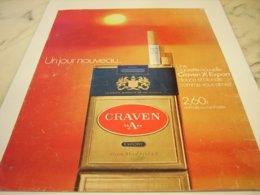 ANCIENNE PUBLICITE CIGARETTE CRAVEN A 1971 - Publicités