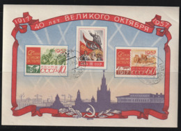 RUSSIE - BLOC N°24 Obl (1957) - Blokken & Velletjes