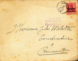 BELGIUM  WW1 COVER FROM GHEEL TO REMICOURT - WW I