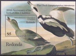 REDONDA, Audubon,birds,vogels,vögel,oiseaux,pajaros,uccelli,aves, BF1. MNH, ** - Oiseaux