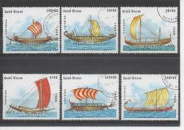 GUINEE-BISSAU - Navires Anciens à Rames : Navire égyptien, Trirème Grecque, Birème étrusque - Bateau - Transport - Guinea-Bissau