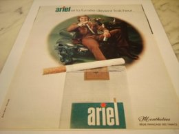 ANCIENNE PUBLICITE CIGARETTES ARIEL 1971 - Publicités