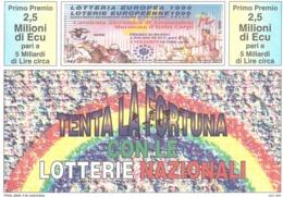 1996 £750 FIERA DEL LEVANTE BARI SU CARTOLINA LOTTERIE NAZIONALI - Pubblicitari