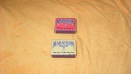 LOT DE 2 ANCIENNES BOITES D'ALLUMETTES MARATHON ET MARATHON MAJOR..THE BEST IN THE LONG RUN... - Matchboxes