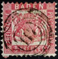 1862 Allemagne Bade Yt 22 , Mi 16 Grand Duchy Of Baden Belle Oblitération - Baden