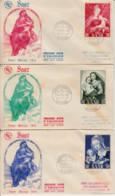 SARRE - 1954 - Lot De 3 FDC : Année Mariale - FDC