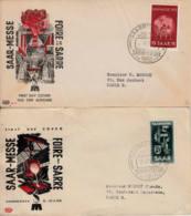 SARRE - 1951, 1952 - Lot De 2 FDC : Foire De La Sarre - FDC