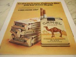 ANCIENNE PUBLICITE CIGARETTE CAMEL 1971 - Tabac (objets Liés)