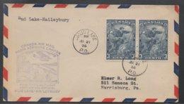 MUD LAKE - PQ - QC - QUEBEC / 1936 FFC - PREMIER VOL POUR HAILEYBURY - ONT.   (ref LE502) - 1911-1935 George V