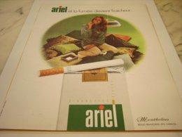 ANCIENNE PUBLICITE CIGARETTES ARIEL 1971 - Tabac (objets Liés)