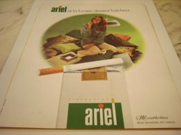 ANCIENNE PUBLICITE CIGARETTES ARIEL 1971 - Raucherutensilien (ausser Tabak)