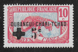 OUBANGUI-CHARI-TCHAD 1916 - YT 18b** - VARIETE - Neufs