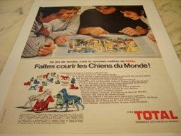 ANCIENNE PUBLICITE LES CHIEN DU MONDES DE TOTAL 1971 - Other
