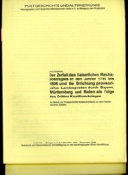 Der Zerfall Des Kaiserlichen Reichspostregals 1792 - 1806 Postgeschichte + Altbriefkunde Hefte 143 - 145 - Germany