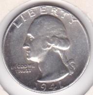 Etats-Unis , Quarter Dollar 1941, Washington , En Argent - Federal Issues