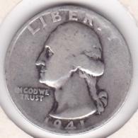 Etats-Unis , Quarter Dollar 1941 S  SAN FRANCISCO, Washington , En Argent - Federal Issues