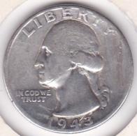 Etats-Unis , Quarter Dollar 1943, Washington , En Argent - Federal Issues
