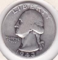 Etats-Unis , Quarter Dollar 1943, Washington , En Argent - Emissioni Federali