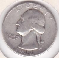 Etats-Unis , Quarter Dollar 1946, Washington , En Argent - Emissioni Federali