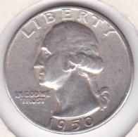 Etats-Unis , Quarter Dollar 1950 , Washington , En Argent - Emissioni Federali