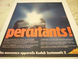 ANCIENNE PUBLICITE APPAREIL PHOTO  PERCUTANTS KODAK 1971 - Publicités