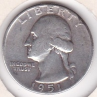 Etats-Unis , Quarter Dollar 1951 , Washington , En Argent - Emissioni Federali