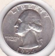 Etats-Unis , Quarter Dollar 1954 , Washington , En Argent - Emissioni Federali